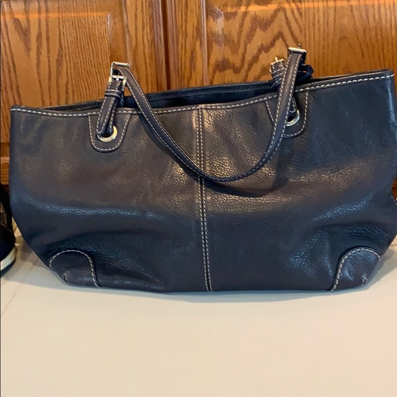 Michael Kors Tote - navy blue leather tote